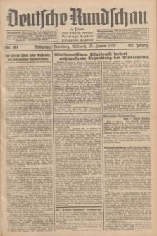 Deutsche Rundschau in Polen : früher Ostdeutsche Rundschau, Bromberger Tageblatt, Pommereller Tageblatt. Jg.62, Nr. 20 (26 Januar 1938) + dod.