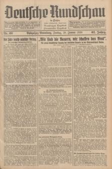 Deutsche Rundschau in Polen : früher Ostdeutsche Rundschau, Bromberger Tageblatt, Pommereller Tageblatt. Jg.62, Nr. 22 (28 Januar 1938) + dod.