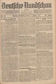 Deutsche Rundschau in Polen : früher Ostdeutsche Rundschau, Bromberger Tageblatt, Pommereller Tageblatt. Jg.62, Nr. 33 (11 Februar 1938) + dod.