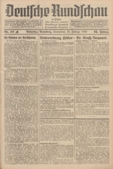 Deutsche Rundschau in Polen : früher Ostdeutsche Rundschau, Bromberger Tageblatt, Pommereller Tageblatt. Jg.62, Nr. 40A (19 Februar 1938) + dod.