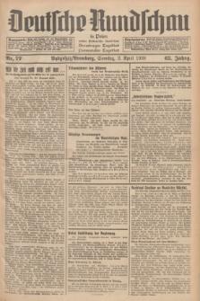 Deutsche Rundschau in Polen : früher Ostdeutsche Rundschau, Bromberger Tageblatt, Pommereller Tageblatt. Jg.62, Nr. 77 (3 April 1938) + dod.