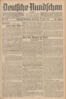Deutsche Rundschau in Polen : früher Ostdeutsche Rundschau, Bromberger Tageblatt, Pommereller Tageblatt. Jg.62, Nr. 115 (21 Mai 1938) + dod.