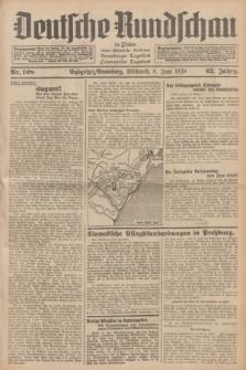 Deutsche Rundschau in Polen : früher Ostdeutsche Rundschau, Bromberger Tageblatt, Pommereller Tageblatt. Jg.62, Nr. 128 (8 Juni 1938) + dod.