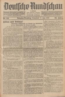 Deutsche Rundschau in Polen : früher Ostdeutsche Rundschau, Bromberger Tageblatt, Pommereller Tageblatt. Jg.62, Nr. 131 (11 Juni 1938) + dod.