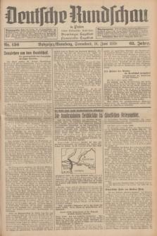 Deutsche Rundschau in Polen : früher Ostdeutsche Rundschau, Bromberger Tageblatt, Pommereller Tageblatt. Jg.62, Nr. 136 (18 Juni 1938) + dod.