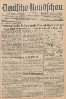 Deutsche Rundschau in Polen : früher Ostdeutsche Rundschau, Bromberger Tageblatt, Pommereller Tageblatt. Jg.62, Nr. 226 (4 Oktober 1938) + dod.