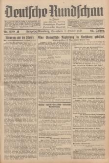Deutsche Rundschau in Polen : früher Ostdeutsche Rundschau, Bromberger Tageblatt, Pommereller Tageblatt. Jg.62, Nr. 230 A (8 Oktober 1938) + dod.