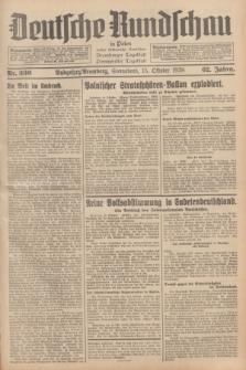 Deutsche Rundschau in Polen : früher Ostdeutsche Rundschau, Bromberger Tageblatt, Pommereller Tageblatt. Jg.62, Nr. 236 (15 Oktober 1938) + dod.