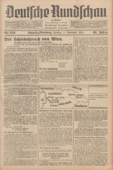 Deutsche Rundschau in Polen : früher Ostdeutsche Rundschau, Bromberger Tageblatt, Pommereller Tageblatt. Jg.62, Nr. 252 (4 November 1938) + dod.