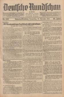 Deutsche Rundschau in Polen : früher Ostdeutsche Rundschau, Bromberger Tageblatt, Pommereller Tageblatt. Jg.62, Nr. 257 (10 November 1938) + dod.