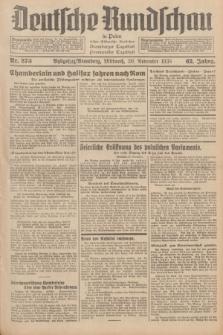 Deutsche Rundschau in Polen : früher Ostdeutsche Rundschau, Bromberger Tageblatt, Pommereller Tageblatt. Jg.62, Nr. 273 (30 November 1938) + dod.