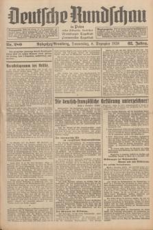 Deutsche Rundschau in Polen : früher Ostdeutsche Rundschau, Bromberger Tageblatt, Pommereller Tageblatt. Jg.62, Nr. 280 (8 Dezember 1938) + dod.