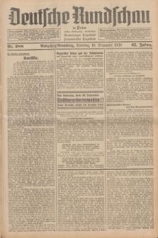 Deutsche Rundschau in Polen : früher Ostdeutsche Rundschau, Bromberger Tageblatt, Pommereller Tageblatt. Jg.62, Nr. 288 (18 Dezember 1938) + dod.