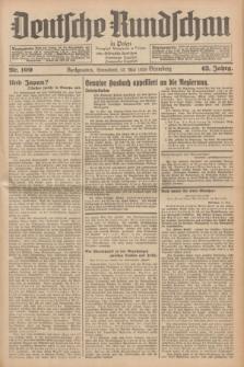 Deutsche Rundschau in Polen = Przegląd Niemiecki w Polsce : früher Ostdeutsche Rundschau, Bromberger Tageblatt, Pommereller Tageblatt. Jg.63, Nr. 109 (13 Mai 1939) + dod.