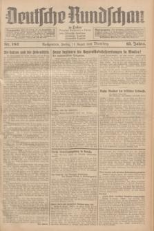 Deutsche Rundschau in Polen = Przegląd Niemiecki w Polsce : früher Ostdeutsche Rundschau, Bromberger Tageblatt, Pommereller Tageblatt. Jg.63, Nr. 182 (11 August 1939) + dod.