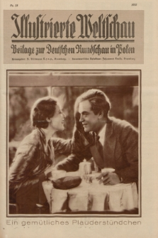 Illustrierte Weltschau : Beilage zur Deutschen Rundschau in Polen. 1932, Nr. 19 ([10 Mai])