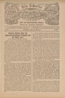"""Die Scholle : früher """"Der Ostmärker"""" : land- und hauswirtschaftlicher Ratgeber : Beilage zur """"Deutschen Rundschau"""". 1922, Nr. 3 (12 Februar)"""