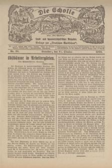 """Die Scholle : früher """"Der Ostmärker"""" : land- und hauswirtschaftlicher Ratgeber : Beilage zur """"Deutschen Rundschau"""". 1922, Nr. 20 (22 Oktober)"""
