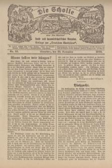 """Die Scholle : früher """"Der Ostmärker"""" : land- und hauswirtschaftlicher Ratgeber : Beilage zur """"Deutschen Rundschau"""". 1922, Nr. 22 (19 November)"""