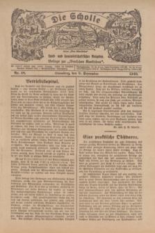 """Die Scholle : früher """"Der Ostmärker"""" : land- und hauswirtschaftlicher Ratgeber : Beilage zur """"Deutschen Rundschau"""". 1923, Nr. 18 (9 September)"""