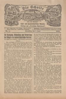 """Die Scholle : früher """"Der Ostmärker"""" : land- und hauswirtschaftlicher Ratgeber : Beilage zur """"Deutschen Rundschau"""". 1924, Nr. 11 (1 Juni)"""