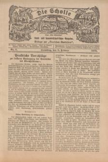 """Die Scholle : früher """"Der Ostmärker"""" : land- und hauswirtschaftlicher Ratgeber : Beilage zur """"Deutschen Rundschau"""". 1925, Nr. 3 (8 Februar)"""