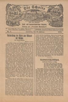 """Die Scholle : früher """"Der Ostmärker"""" : land- und hauswirtschaftlicher Ratgeber : Beilage zur """"Deutschen Rundschau"""". 1925, Nr. 4 (22 Februar)"""