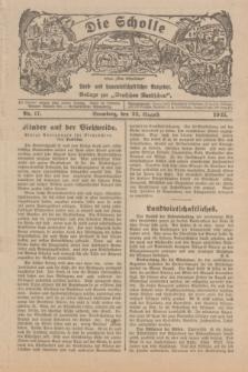 """Die Scholle : früher """"Der Ostmärker"""" : land- und hauswirtschaftlicher Ratgeber : Beilage zur """"Deutschen Rundschau"""". 1925, Nr. 17 (23 August)"""