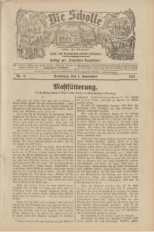 """Die Scholle : früher """"Der Ostmärker"""" : land- und hauswirtschaftlicher Ratgeber : Beilage zur """"Deutschen Rundschau"""". 1931, Nr. 19 (6 September)"""