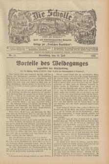 """Die Scholle : früher """"Der Ostmärker"""" : land- und hauswirtschaftlicher Ratgeber : Beilage zur """"Deutschen Rundschau"""". 1932, Nr. 14 (10 Juli)"""