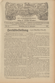"""Die Scholle : früher """"Der Ostmärker"""" : land- und hauswirtschaftlicher Ratgeber : Beilage zur """"Deutschen Rundschau"""". 1932, Nr. 19 (18 September)"""