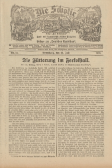 """Die Scholle : früher """"Der Ostmärker"""" : land- und hauswirtschaftlicher Ratgeber : Beilage zur """"Deutschen Rundschau"""". 1933, Nr. 15 (23 Juli)"""