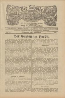 """Die Scholle : früher """"Der Ostmärker"""" : land- und hauswirtschaftlicher Ratgeber : Beilage zur """"Deutschen Rundschau"""". 1933, Nr. 18 (3 September)"""