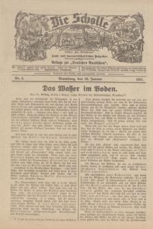 """Die Scholle : früher """"Der Ostmärker"""" : land- und hauswirtschaftlicher Ratgeber : Beilage zur """"Deutschen Rundschau"""". 1934, Nr. 4 (28 Januar)"""