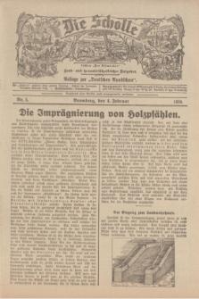 """Die Scholle : früher """"Der Ostmärker"""" : land- und hauswirtschaftlicher Ratgeber : Beilage zur """"Deutschen Rundschau"""". 1934, Nr. 5 (4 Februar)"""