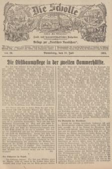 """Die Scholle : früher """"Der Ostmärker"""" : land- und hauswirtschaftlicher Ratgeber : Beilage zur """"Deutschen Rundschau"""". 1934, Nr. 29 (22 Juli)"""