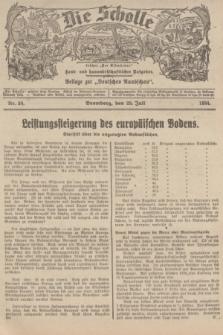 """Die Scholle : früher """"Der Ostmärker"""" : land- und hauswirtschaftlicher Ratgeber : Beilage zur """"Deutschen Rundschau"""". 1934, Nr. 30 (29 Juli)"""