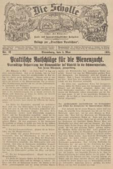 """Die Scholle : früher """"Der Ostmärker"""" : land- und hauswirtschaftlicher Ratgeber : Beilage zur """"Deutschen Rundschau"""". 1935, Nr. 18 (5 Mai)"""