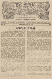 """Die Scholle : früher """"Der Ostmärker"""" : land- und hauswirtschaftlicher Ratgeber : Beilage zur """"Deutschen Rundschau"""". 1935, Nr. 29 (21 Juli)"""