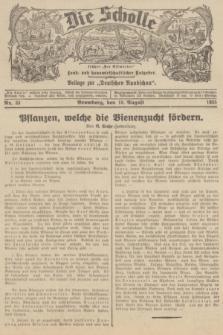 """Die Scholle : früher """"Der Ostmärker"""" : land- und hauswirtschaftlicher Ratgeber : Beilage zur """"Deutschen Rundschau"""". 1935, Nr. 33 (18 August)"""