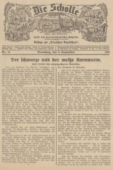"""Die Scholle : früher """"Der Ostmärker"""" : land- und hauswirtschaftlicher Ratgeber : Beilage zur """"Deutschen Rundschau"""". 1935, Nr. 36 (8 September)"""