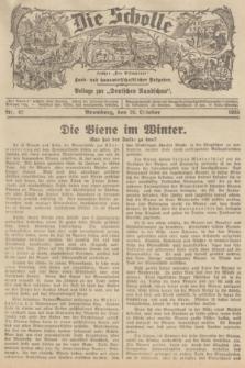 """Die Scholle : früher """"Der Ostmärker"""" : land- und hauswirtschaftlicher Ratgeber : Beilage zur """"Deutschen Rundschau"""". 1935, Nr. 42 (26 Oktober)"""
