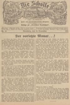 """Die Scholle : früher """"Der Ostmärker"""" : land- und hauswirtschaftlicher Ratgeber : Beilage zur """"Deutschen Rundschau"""". 1935, Nr. 46 (24 November)"""
