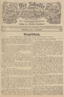 """Die Scholle : früher """"Der Ostmärker"""" : land- und hauswirtschaftlicher Ratgeber : Beilage zur """"Deutschen Rundschau"""". 1935, Nr. 47 (1 Dezember)"""