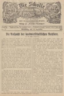 """Die Scholle : früher """"Der Ostmärker"""" : land- und hauswirtschaftlicher Ratgeber : Beilage zur """"Deutschen Rundschau"""". 1935, Nr. 51 (29 Dezember)"""