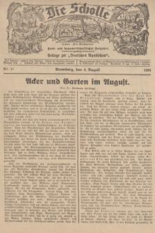"""Die Scholle : früher """"Der Ostmärker"""" : land- und hauswirtschaftlicher Ratgeber : Beilage zur """"Deutschen Rundschau"""". 1936, Nr. 31 (9 August)"""