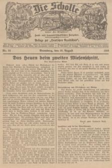 """Die Scholle : früher """"Der Ostmärker"""" : land- und hauswirtschaftlicher Ratgeber : Beilage zur """"Deutschen Rundschau"""". 1936, Nr. 33 (23 August)"""