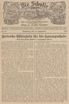 """Die Scholle : früher """"Der Ostmärker"""" : land- und hauswirtschaftlicher Ratgeber : Beilage zur """"Deutschen Rundschau"""". 1936, Nr. 36 (13 September)"""