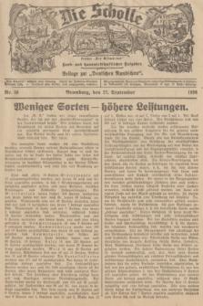"""Die Scholle : früher """"Der Ostmärker"""" : land- und hauswirtschaftlicher Ratgeber : Beilage zur """"Deutschen Rundschau"""". 1936, Nr. 38 (27 September)"""