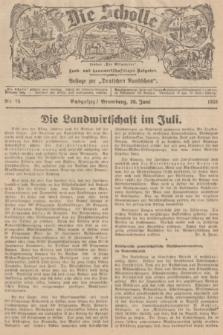 """Die Scholle : früher """"Der Ostmärker"""" : land- und hauswirtschaftlicher Ratgeber : Beilage zur """"Deutschen Rundschau"""". 1938, Nr. 25 (26 Juni)"""